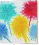 Color Burst 1 Wood Print