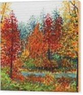 Color Burst Forest Wood Print
