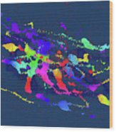 Color Chaos Wood Print