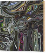 Color Coagulated Wood Print