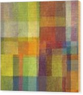 Color Collage With Green And Red 2.0 Wood Print by Michelle Calkins