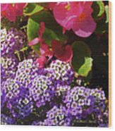 Color Combination Flowers Cc63 Wood Print