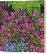 Color Combination Flowers Cc73 Wood Print