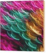 Color Curls Wood Print