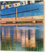 Color Dancing On Water Wood Print