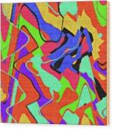 Color Drawing Abstract #3 Wood Print