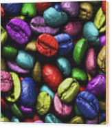 Color Full Coffe Beans Wood Print