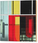 Color Grid 1 Wood Print