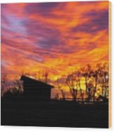 Color In The Sky Wood Print