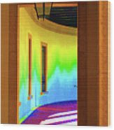Color Light Wood Print