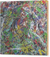 Color Map From The Sky And Ice Figure  Wood Print