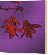 Color Me Autumn Wood Print