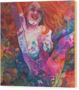 Color Me Mardi Gras Wood Print