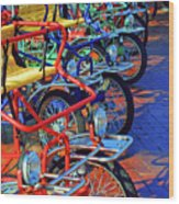 Color Of Bikes Wood Print