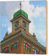 Color Of City Hall Wood Print