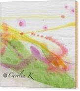 Color Of Dance Japan Wood Print