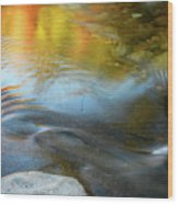 Color On The Swift River Nh Wood Print