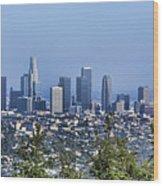 Color Pano Los Angeles California  Wood Print