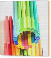 Color Pens 10 Wood Print