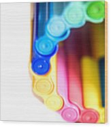 Color Pens 8 Wood Print