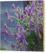 Color Purple Wood Print