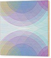 Color Semi Circle Background Horizontal Wood Print