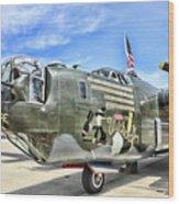 Color Side Wwii B-24j Wood Print