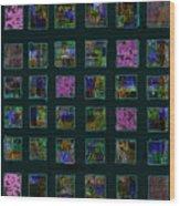 Color Square 2 Wood Print