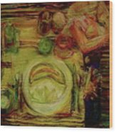 Color Study February Wood Print by Jana Barros