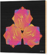 Color Study No. 21 Wood Print