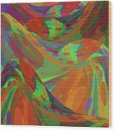 Color Swells Wood Print