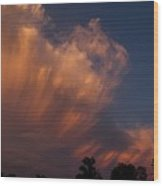 Painting With Clouds, Part 4 Wood Print