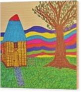 Colorful Fantasy Land Wood Print