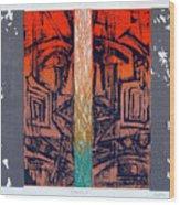 Color25 Monoprint Wood Print