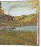 Colorado Cabin Wood Print