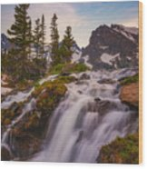 Colorado Cascading Waters Wood Print