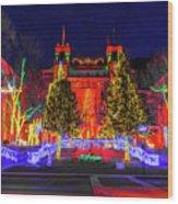 Colorado Christmas Wood Print