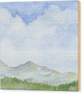 Colorado Cloudscape Wood Print