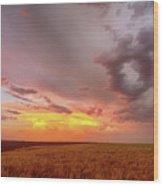 Colorado Eastern Plains Sunset Sky Wood Print