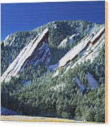 All Five Colorado Flatirons Wood Print