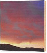 Colorado Front Range Rocky Mountains Foothills Sunset Wood Print