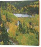 Colorado Lake And Colors Wood Print