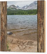 Colorado Love Window  Wood Print