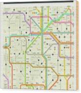 Colorado Map Wood Print