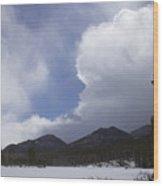 Colorado Mountain Clouds Wood Print