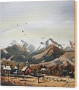 Colorado Mountain Ranch Wood Print