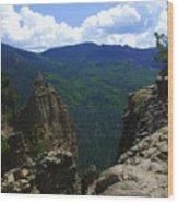 Colorado Mountain View Wood Print