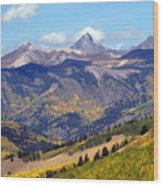 Colorado Mountains 1 Wood Print