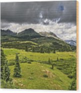 Colorado Mountains After Summer Rain Wood Print