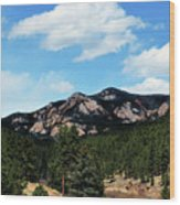 Colorado Mountains Wood Print